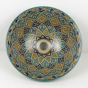 Orientalisches-Handbemaltes-Keramik-Waschbecken Fes61