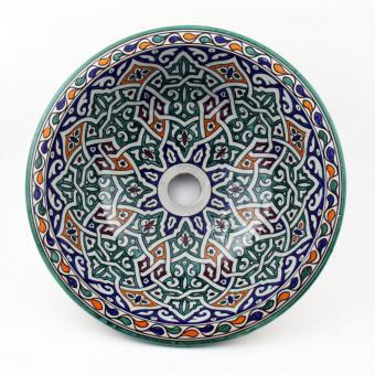 Orientalisches-Handbemaltes-Keramik-Waschbecken Fes42