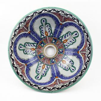 Orientalisches-Handbemaltes-Keramik-Waschbecken Fes41