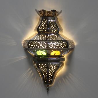 Silber-Wandlampe Farah