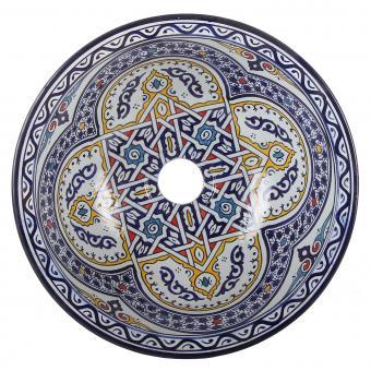 Orientalisches handbemaltes Keramik Waschbecken Fes119