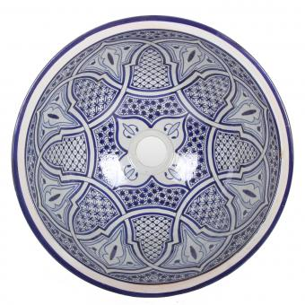 Orientalisches Handbemaltes Keramik Waschbecken Fes93
