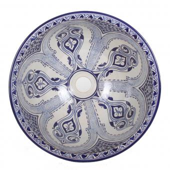 Orientalisches Handbemaltes Keramik Waschbecken Fes94