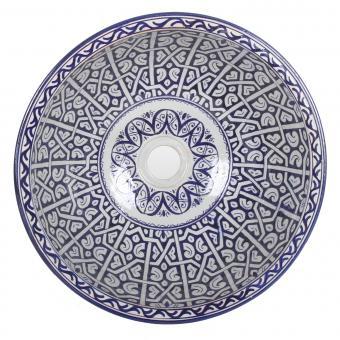 Orientalisches Handbemaltes Keramik Waschbecken Fes96