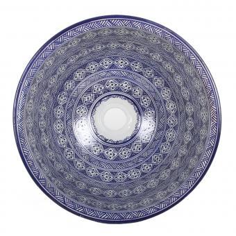 Orientalisches Handbemaltes Keramik Waschbecken Fes98