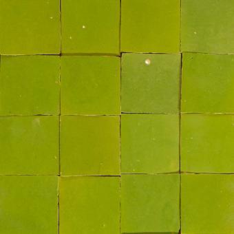 Zellige Fliesen Olivengrün