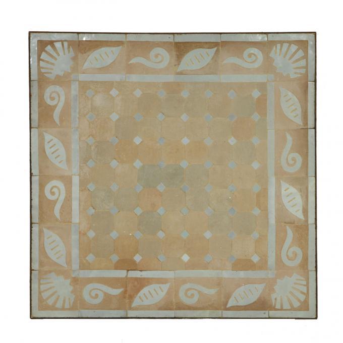 Couch-Mosaiktisch 60x60 Muschel-Weiss