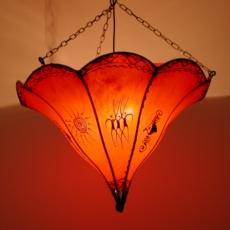 Henna-Leder-Deckenlampe Hiba