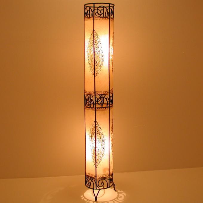 Henna-Stehlampe Kadous H130 Weiss