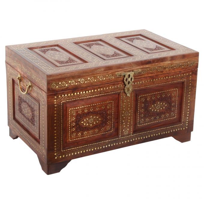 Orientalische Holztruhe Jessim XL