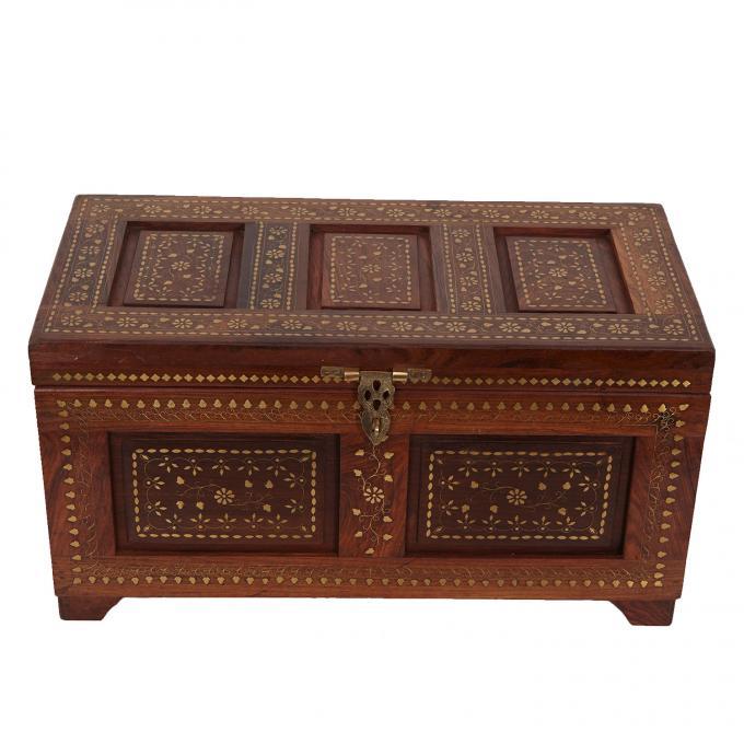 Orientalische Holztruhe Enisa L