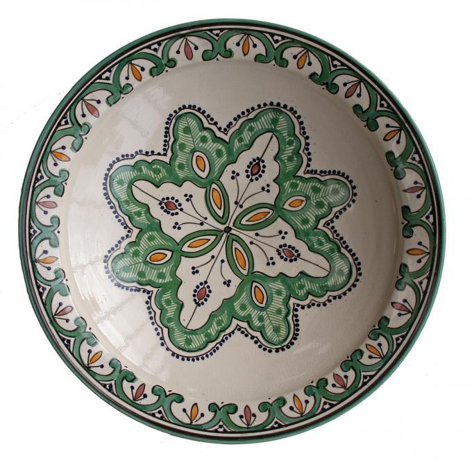 handbemalte Keramikschale aus Marokko F027