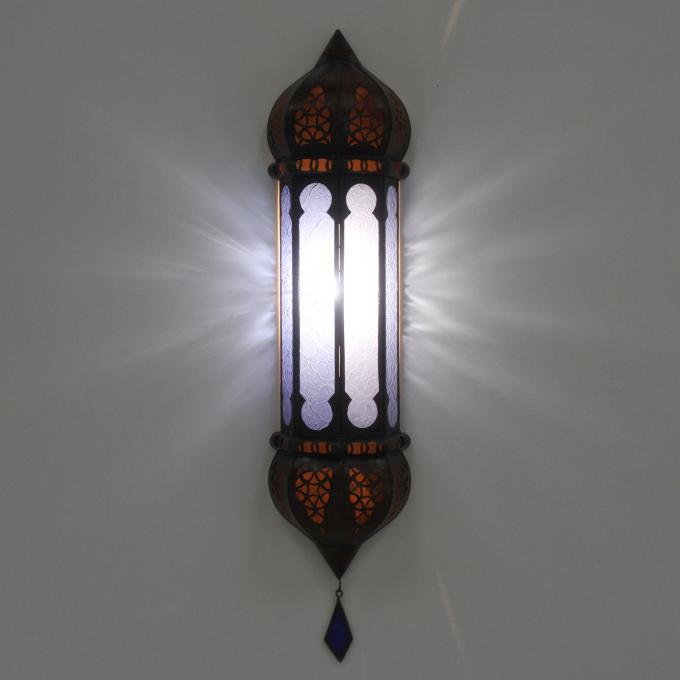Marokkanische wandlampe ruya blau bei ihrem orient shop for Marokkanische wandlampe