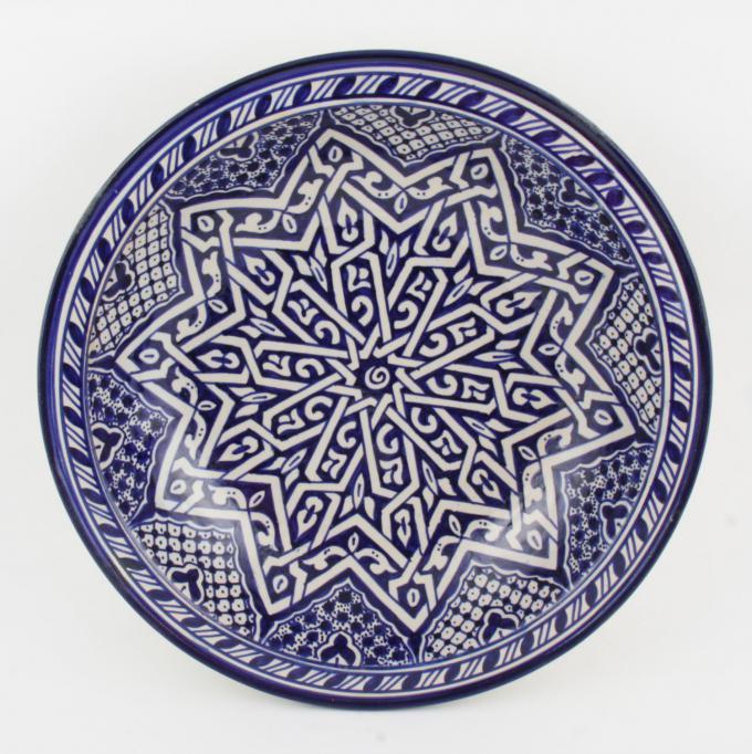 handbemalte Keramikschale aus Marokko F018