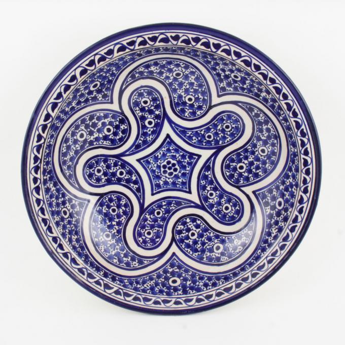 handbemalte Keramikschale aus Marokko F014