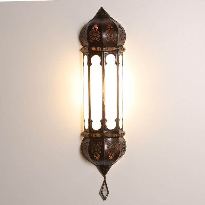 Marokkanische Wandlampe Ruya Milchweiß