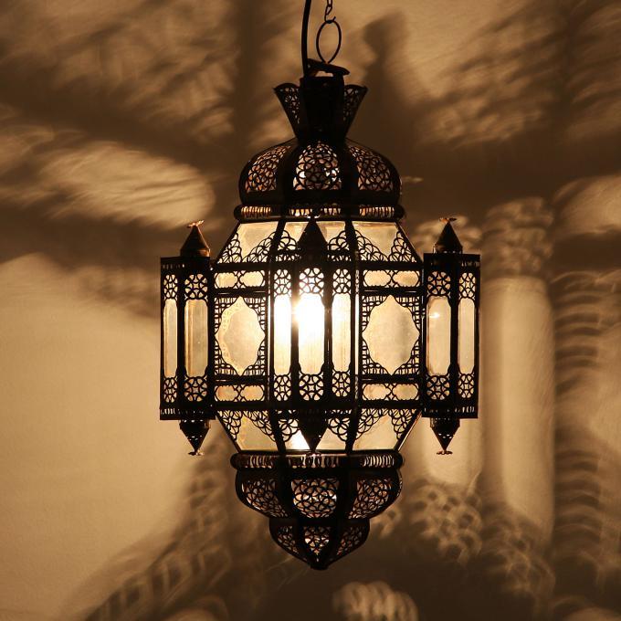 H ngeleuchte moula klar bei ihrem orient shop casa moro - Marokkanische bodenfliesen ...