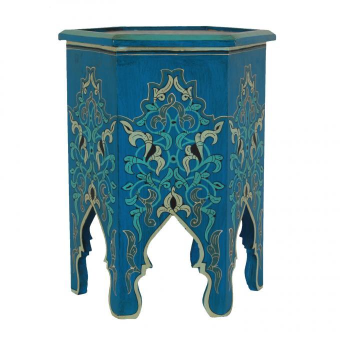 marokkanischer holz beistelltisch basir bei ihrem orient. Black Bedroom Furniture Sets. Home Design Ideas