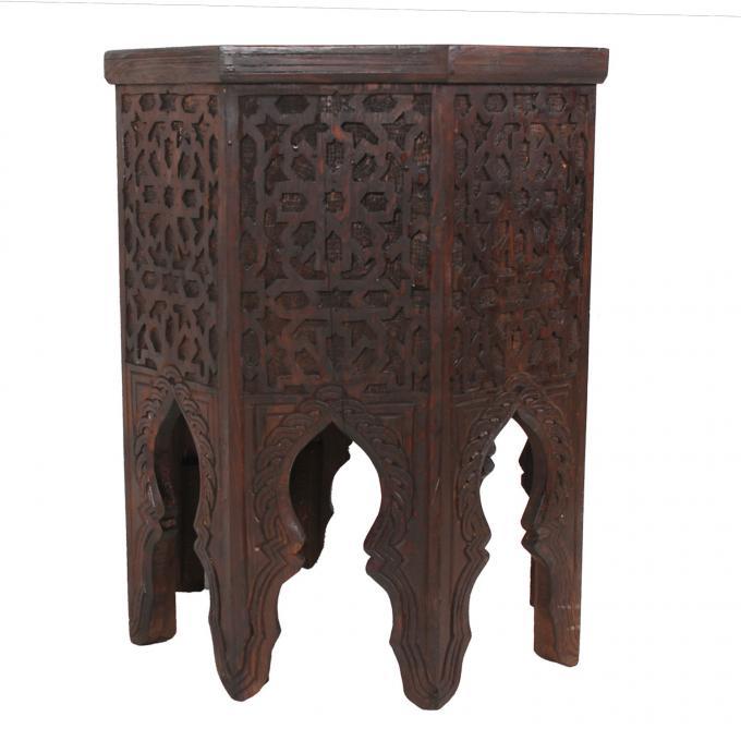 Marokkanischer Holz Beistelltisch Malik
