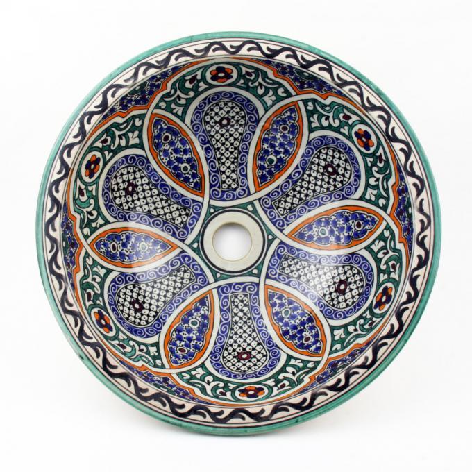 Orientalisches-Handbemaltes-Keramik-Waschbecken Fes43