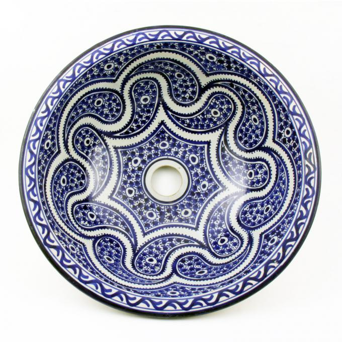 Orientalisches-Handbemaltes-Keramik-Waschbecken Fes45