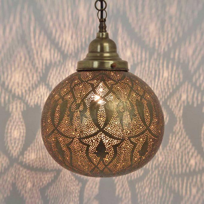 Messinglampe Taj Mini