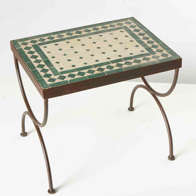 Mosaik-Beistelltisch L50 Grün/Terracotta