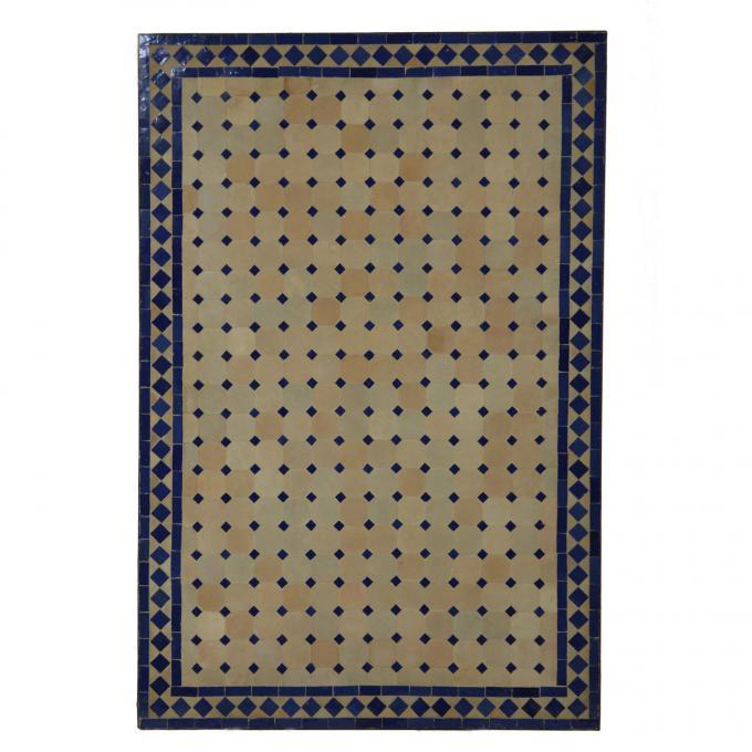 Mosaik-Esstisch 120x80 Blau/Raute