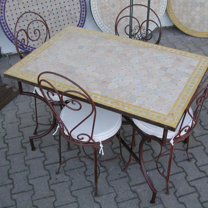 mosaik-esstisch 120x80 gelb/raute | bei ihrem orient shop casa-moro, Esstisch ideennn