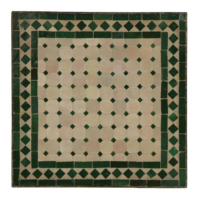 Mosaiktisch 60x60 Grün-Raute
