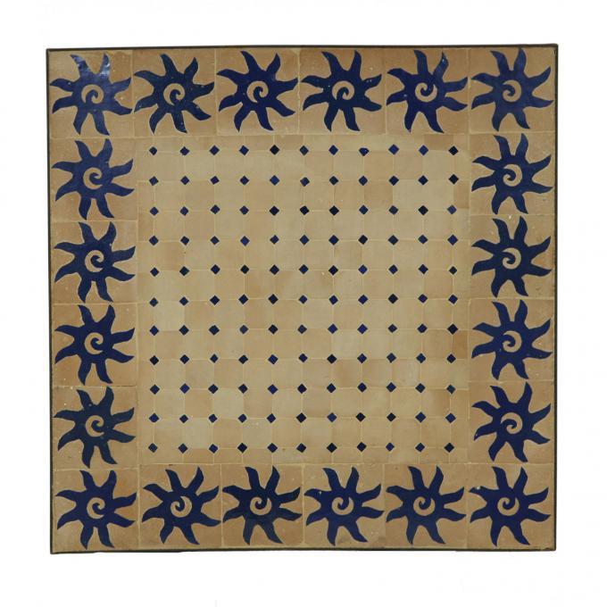 Mosaiktisch 60x60 Blau Sonne