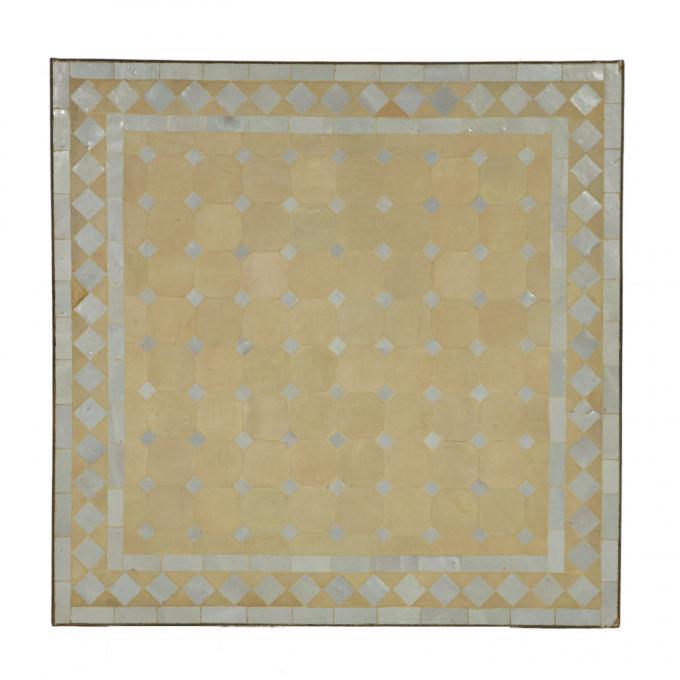 Mosaiktisch 80x80 Weiß/Raute