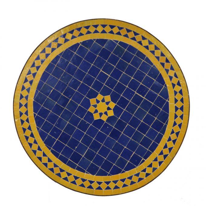 Mosaiktisch aus Marokko - Rund -M60-17