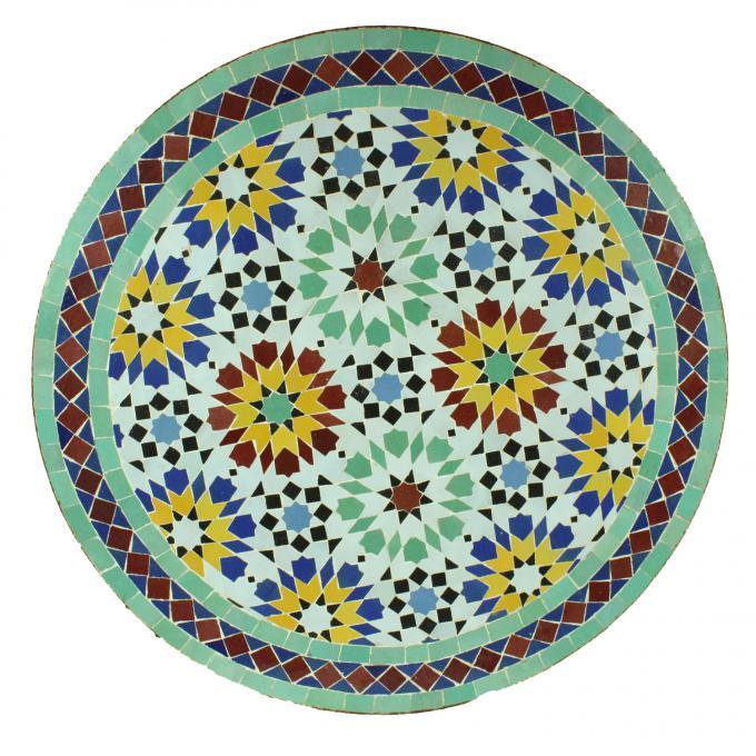 mosaiktisch aus marokko rund m60 6 bei ihrem orient shop casa moro. Black Bedroom Furniture Sets. Home Design Ideas
