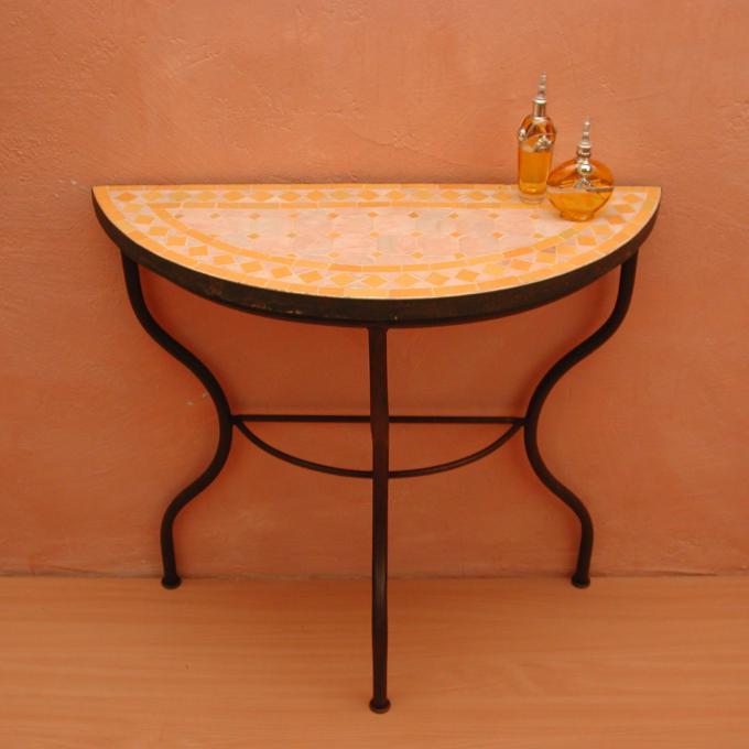 Mosaiktisch / Halbrund 80cm
