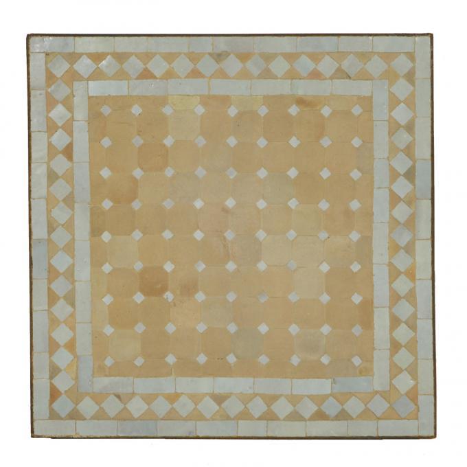 Mosaiktisch 60x60 Weiss Raute