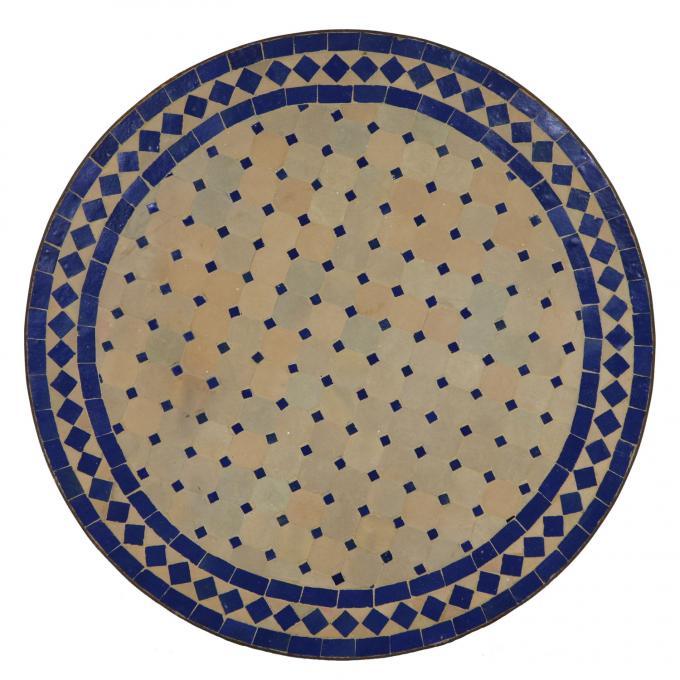 Mosaiktisch D100 Blau/Raute