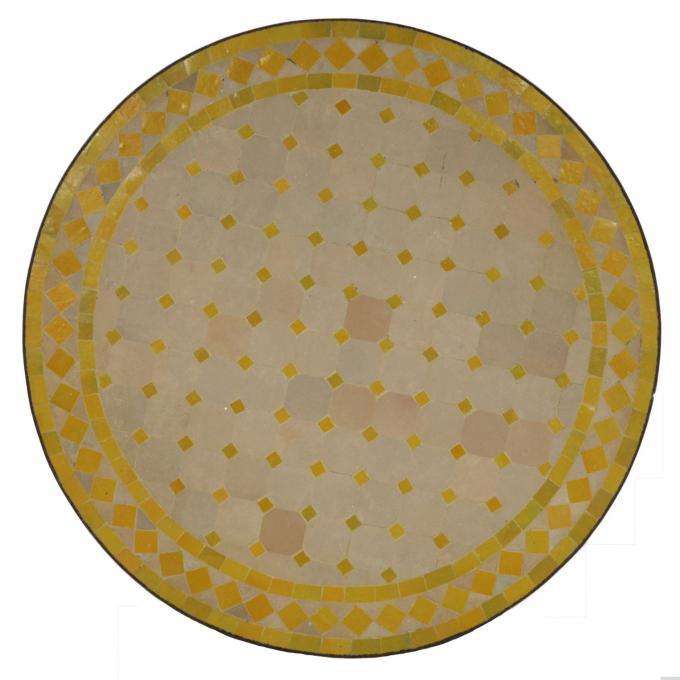 Mosaiktisch D100 Gelb/Raute