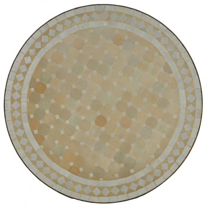 Mosaiktisch D90 Weiss/Raute