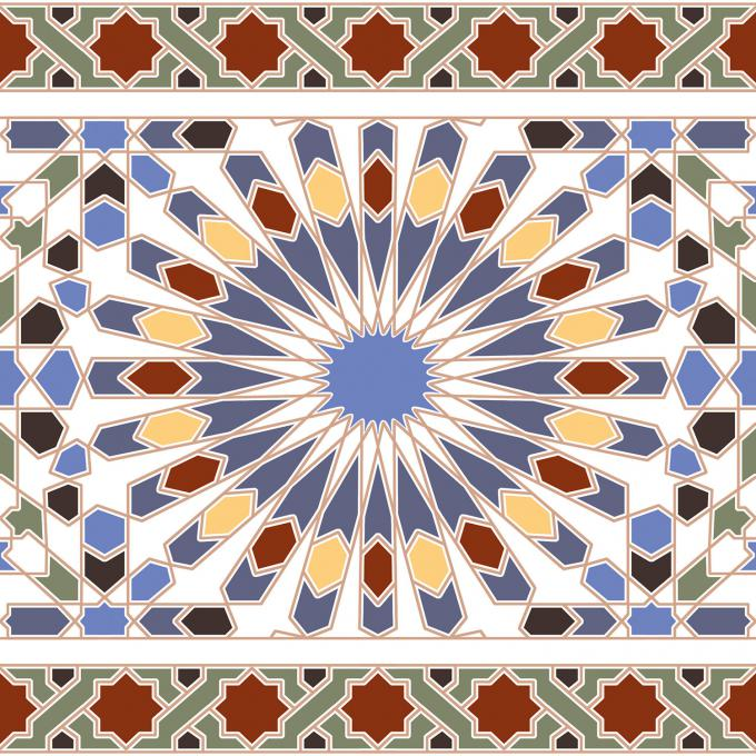 Marokkanische Wandfliesen-Bordüre Tanger