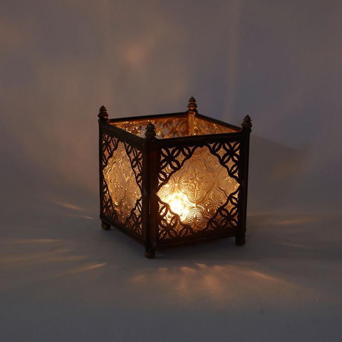 Orient Glas-Windlicht Weiß