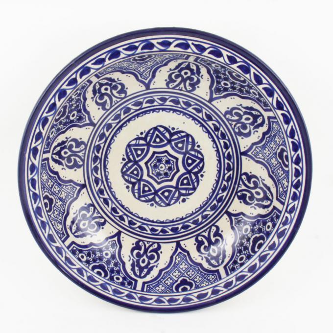 handbemalte Keramikschale aus Marokko F010