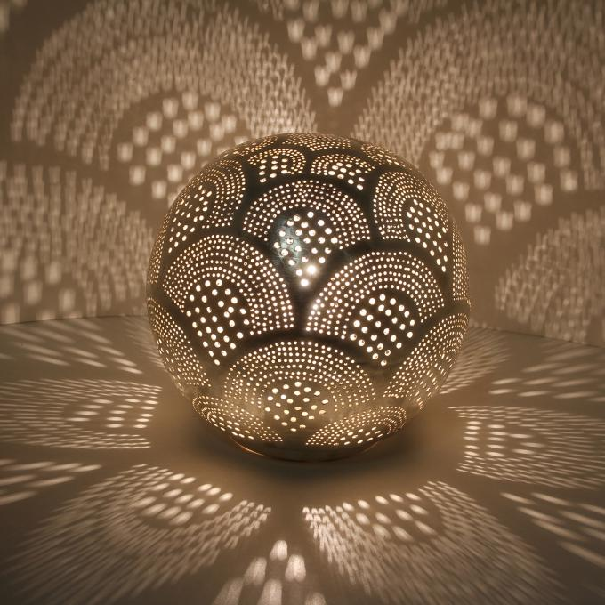 Silberne Stehlampe Tahir D22