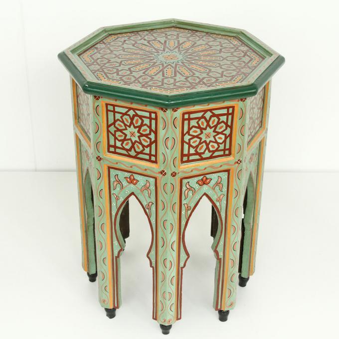 Orientalischer Beistelltisch Tahani Hellgrün