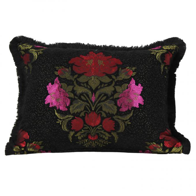 orientalisches kissen aus marokko maysa schwarz bei. Black Bedroom Furniture Sets. Home Design Ideas