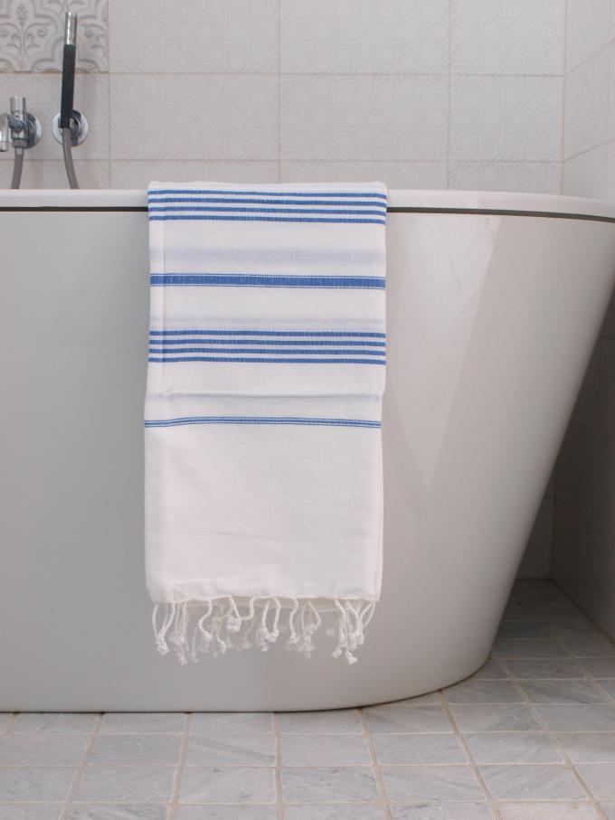 Türkisches Hamamtuch Blau Weiß