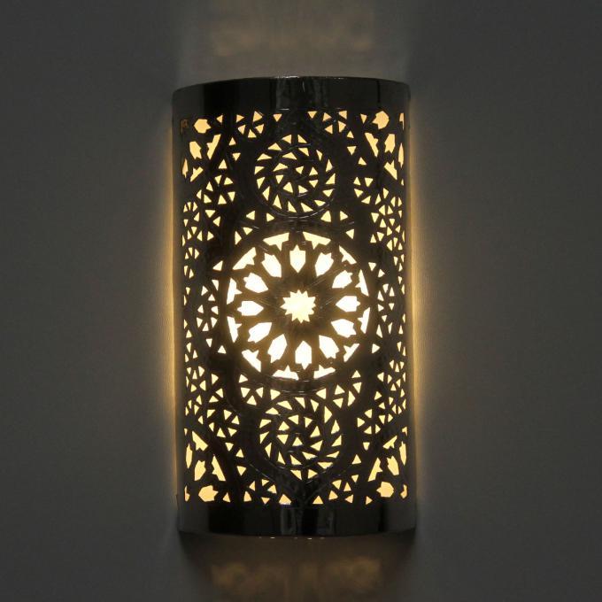 Silber-Wandlampe Amira
