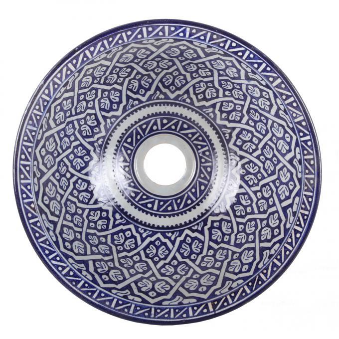 Orientalisches handbemaltes Keramik Waschbecken Fes118