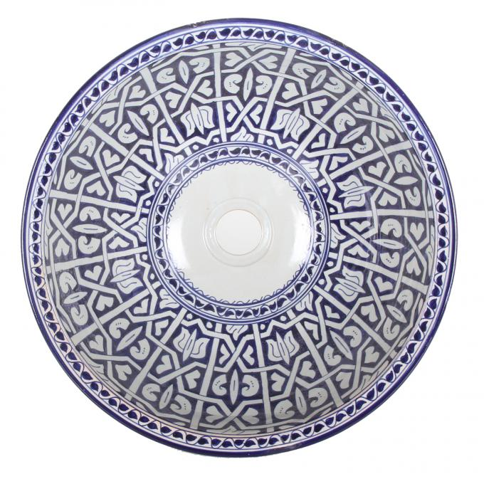 Orientalisches Handbemaltes Keramik Waschbecken Fes92