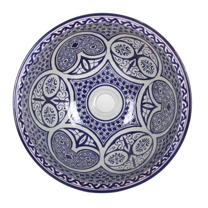 Orientalisches Handbemaltes Keramik Waschbecken Fes108
